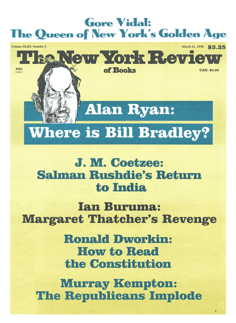 The New York Review Of Books - March 21 - 1996