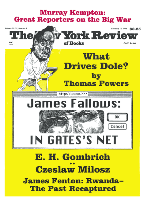 The New York Review Of Books - Febraury 15 - 1996