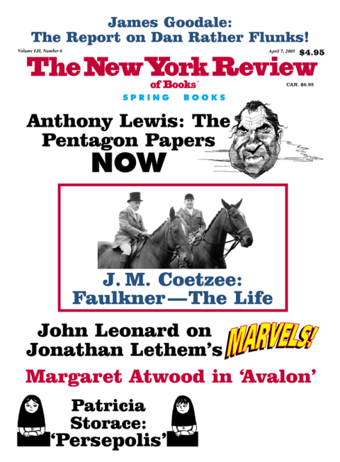 The New York Review Of Books - April7 - 2005