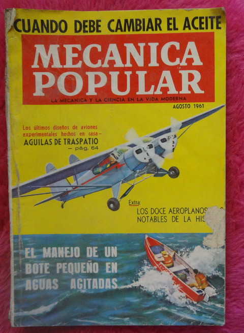 Mecánica Popular Revista - Agosto de 1961