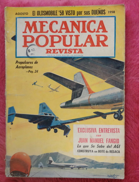 Mecánica Popular Revista - Agosto de 1958