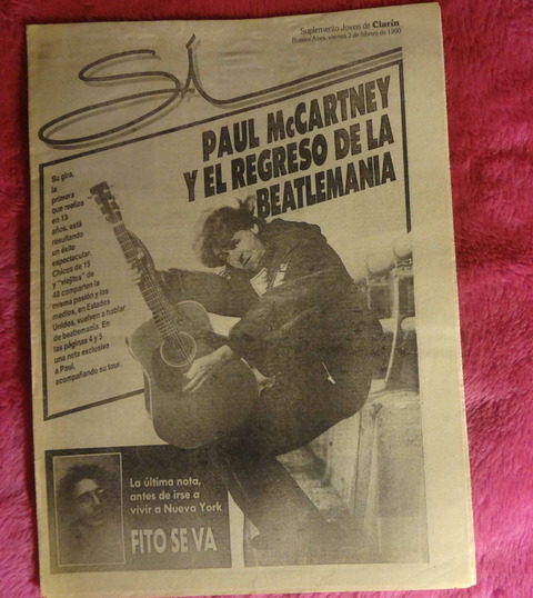 Suplemento SI de Clarin 1990 - Febrero de 1990 - Paul McCartney el regreso de la beatlemania