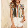 Blusa Rayitas Verticales Colores - RTSM176