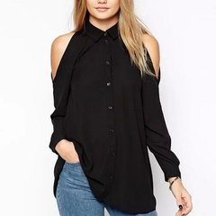 Blusa ML Larga Hombros Destapados	- RTML178