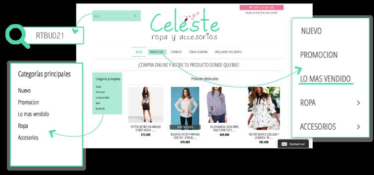 b5086388368d Celeste Ropa y Accesorios - Cómo comprar ?