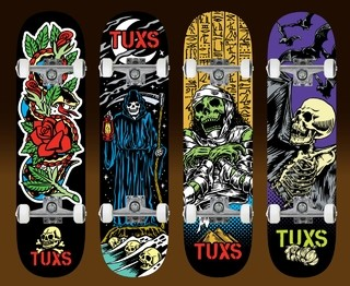 Skate Profesional Completo Tuxs