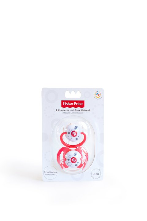 Chupetes 2 Unidades Fisher Price Latex Etapa 2 De 6 a 18 Meses