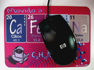 Mouse Pad Movido à Cafeína