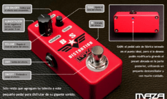 Pedal Maza fx - BS distorsion + porta pua regalo - comprar online