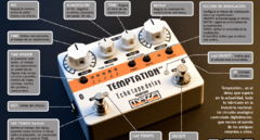 Pedal Maza fx - Temptation Echo Tape Delay V2 (blanco) + porta pua regalo en internet