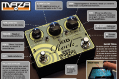 Pedal Maza fx - Kid Rock Distorsion V2 blanco + porta pua regalo - comprar online