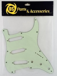 Pickguard Stratocaster S-S-S Negro Blanco Crema Mint Tortoise Ds Tricapa - comprar online