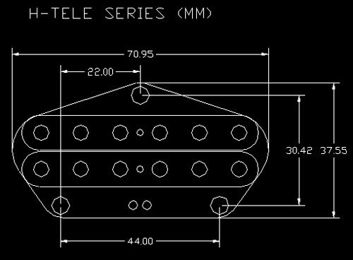Microfono Ds Pickups H-tele 06 Ds51 - comprar online