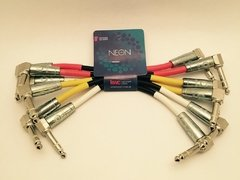 Cable Interpedal Pack x6 Kwc Neon 180 Plug/plug 90º 25 Cm