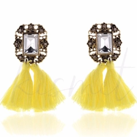 POMPOM COLORFUL EARRINGS - comprar online