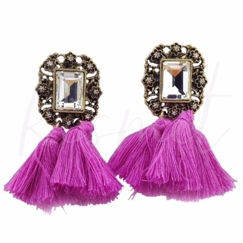 POMPOM COLORFUL EARRINGS