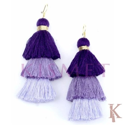 ALLEGRA EARRINGS-PURPLE