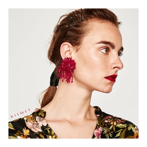 VENUS EARRINGS-HOT PINK - comprar online