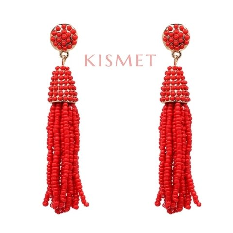 AGORA EARRINGS-RED - comprar online
