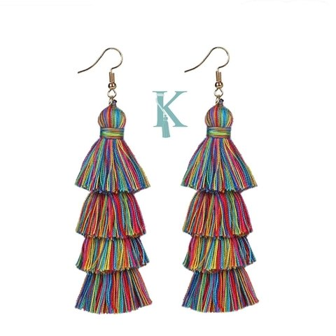 FIESTA EARRINGS-RAINBOW