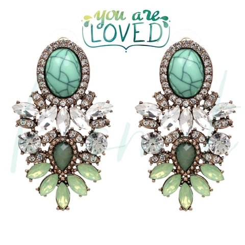 AMAPOLA EARRINGS-GREEN
