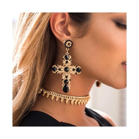 VINTAGE CROSS EARRINGS 01 - comprar online