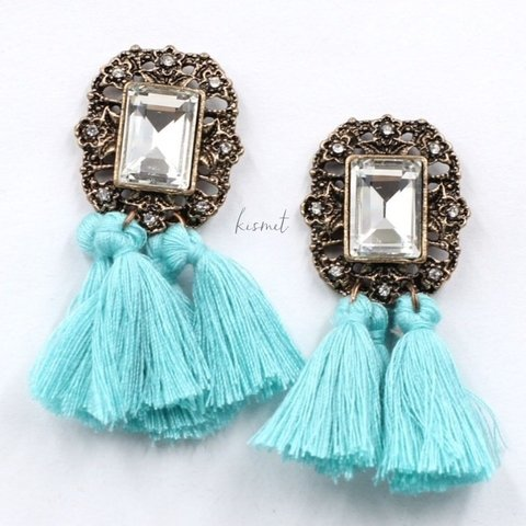 POMPOM COLORFUL EARRINGS - tienda online