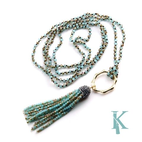 THAI NECKLACE-TURQUOISE
