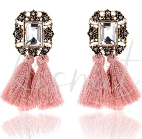 POMPOM PINK EARRINGS - comprar online