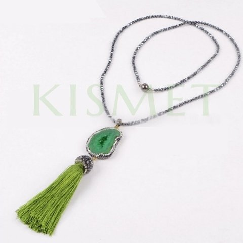 AURA NECKLACE-GREEN