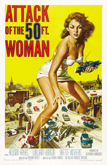 Poster Attack of the 50ft Woman [1958] en internet