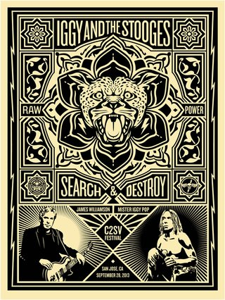 Iggy and the Stooges by Shepard Fairey