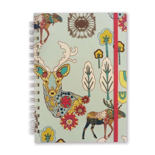 Libreta Colorful Deer in Aqua