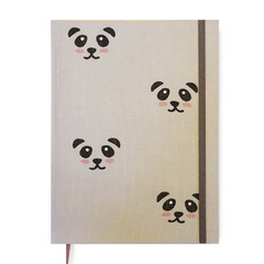 Baby Book • Pandas in Beige