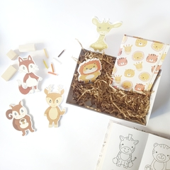 GIFT BOX KIDS ☼ COLORING & BATH in YELLOW en internet