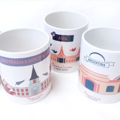 Set x 6 · Tazas Around The World en internet