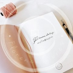 WEDDING JOURNAL • Pink - Florence Livres