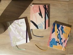 Mini Notebook • Abstract Brush in Lila - tienda online