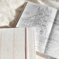 Coloring Notebook • Gold Brush Stripes Diary - comprar online