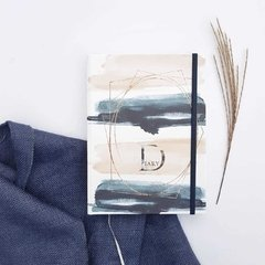 Notebook • Gold Brush Stripes Diary