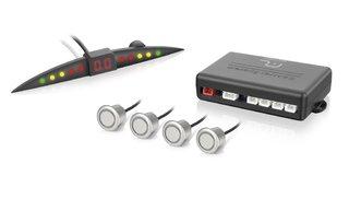 Sensor de Estacionamento 4 pontos com LED - Cor Prata