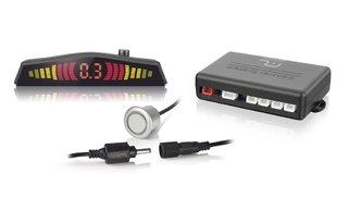 Sensor de Estacionamento 4 pontos com Conector e com LED - Prata