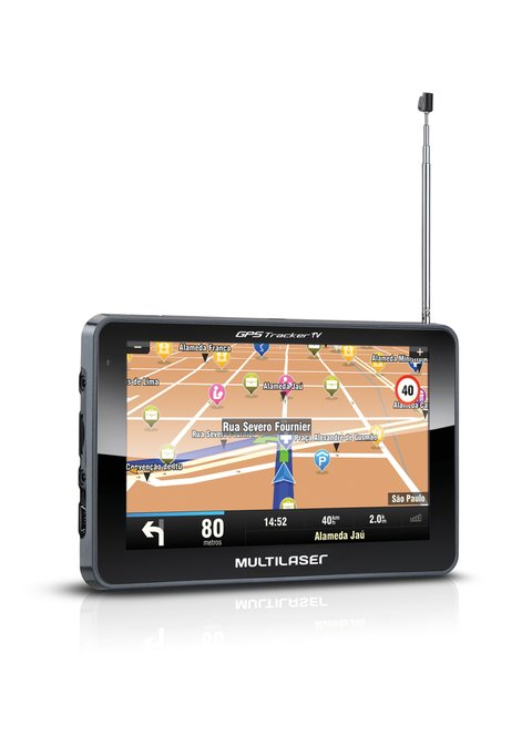 GPS Tracker Tv digital + Camera De Ré + FM + AV IN - Destaque Carros Store