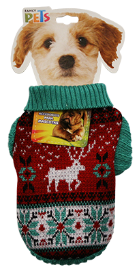 FANCY PETS SWEATER NAVIDEÑO