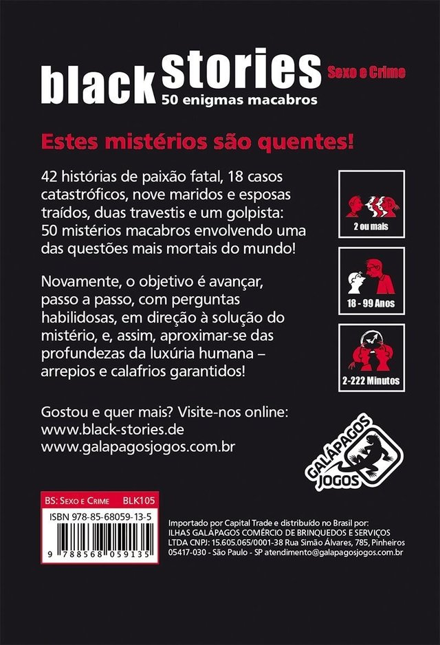 Black Stories Sexo e Crime na internet