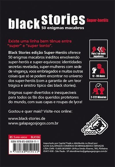 Black Stories Super-Herois - comprar online