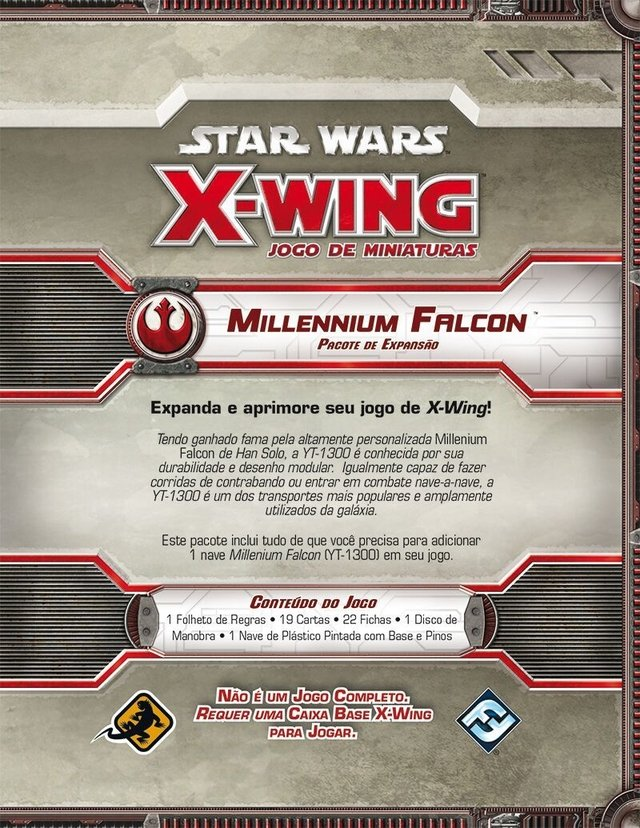 Millennium Falcon - Expansao, Star Wars X-Wing na internet
