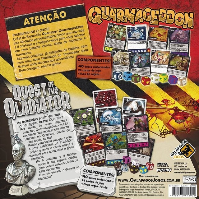 Quarmageddon/Quest of the Qladiator - Expansao, Quarriors - comprar online