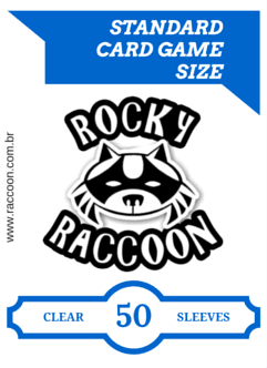 Combo com 500 Sleeves (Shield) Rocky Raccoon Translucidos