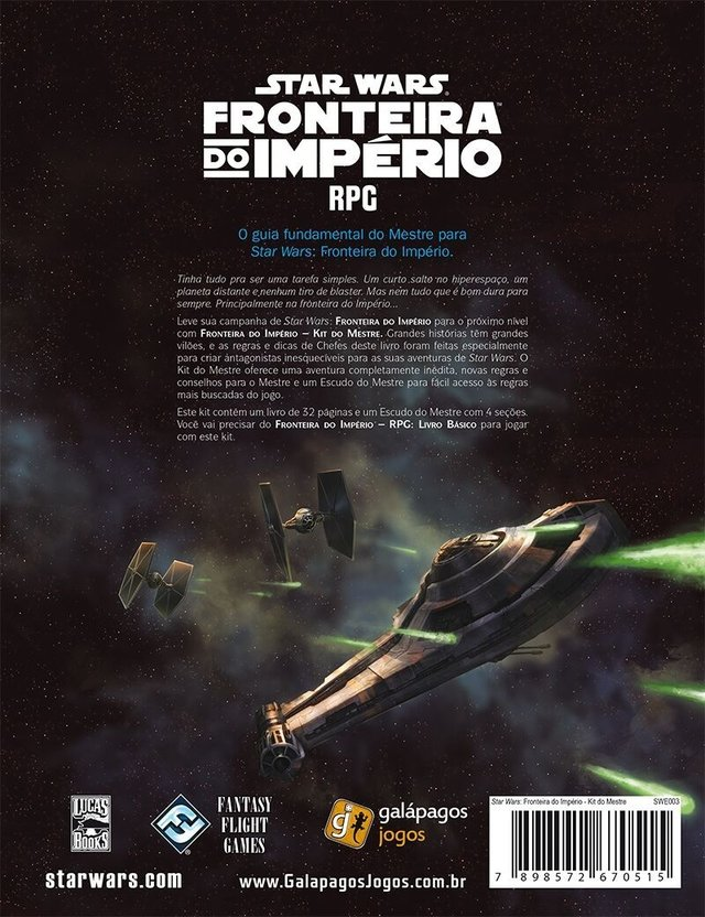 Star Wars RPG - Fronteira do Imperio: Kit do Mestre - comprar online